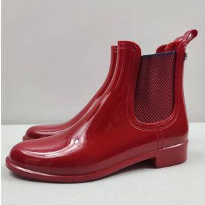 Igor Short Pull On Red Rain Boots